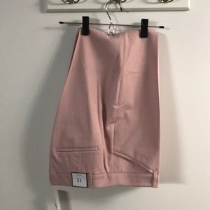 Light pink slim ankle trousers